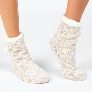 Shiraleah Emma Slipper Socks in Cream
